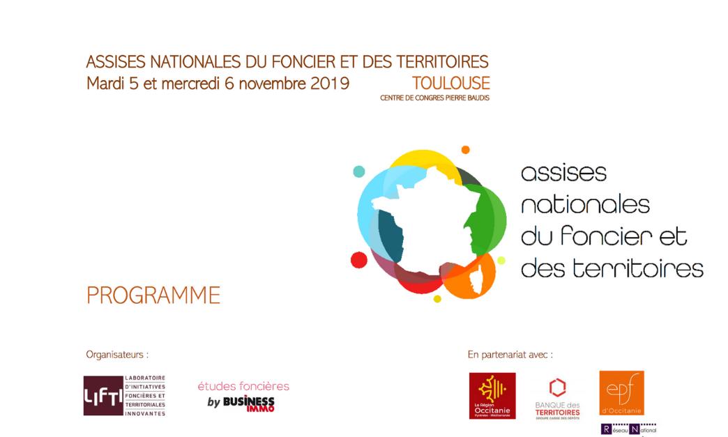 Assises Nationales du Foncier et des territoires 2019